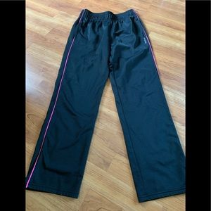 Youth girls black Reebok track pants!